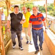 Conferindo os últimos preparativos na companhia do prefeito de Bezerros, Severino Otávio (Branquinho) e o vice, Breno Borba.